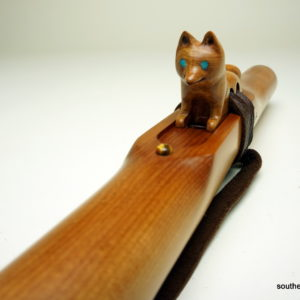 Matai Dog Totem - Custom Carved Native American Flute Totem - Southern Cross Flutes