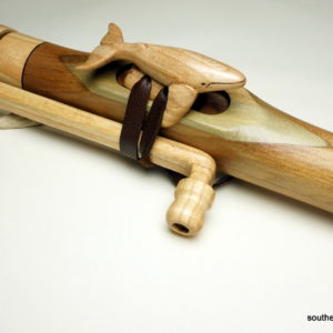 Ash Whale Totem - Custom Carved Native American Flute Totem - Southern Cross Flutes