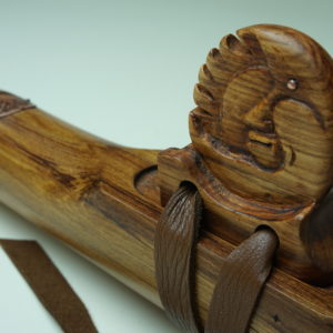 Rimu Sun and Moon Totem - Custom Carved Native American Flute Totem - Southern Cross Flutes