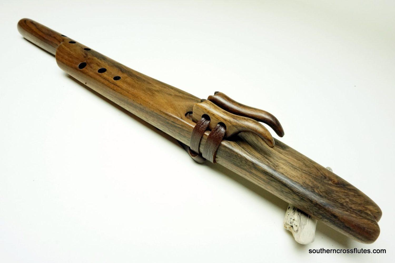 Black Walnut - Forest Mayan Temple Flute - Key of D/A minor