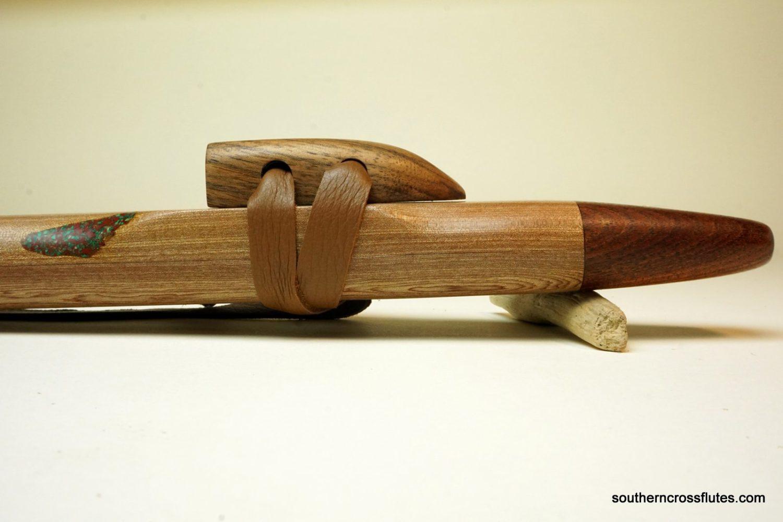 Mystery Wood with Walnut - Drone Flute - Key of C Minor