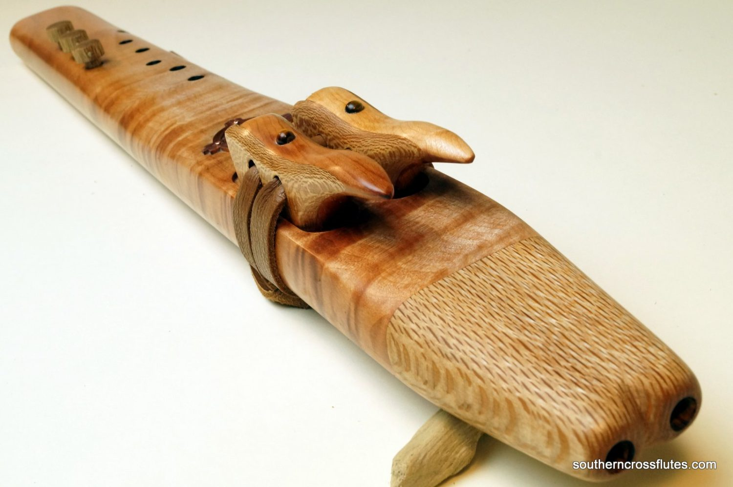 Red Beech - Temple Drone Flute - Key of F# Minor