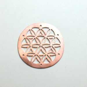 Handcrafted copper emblems